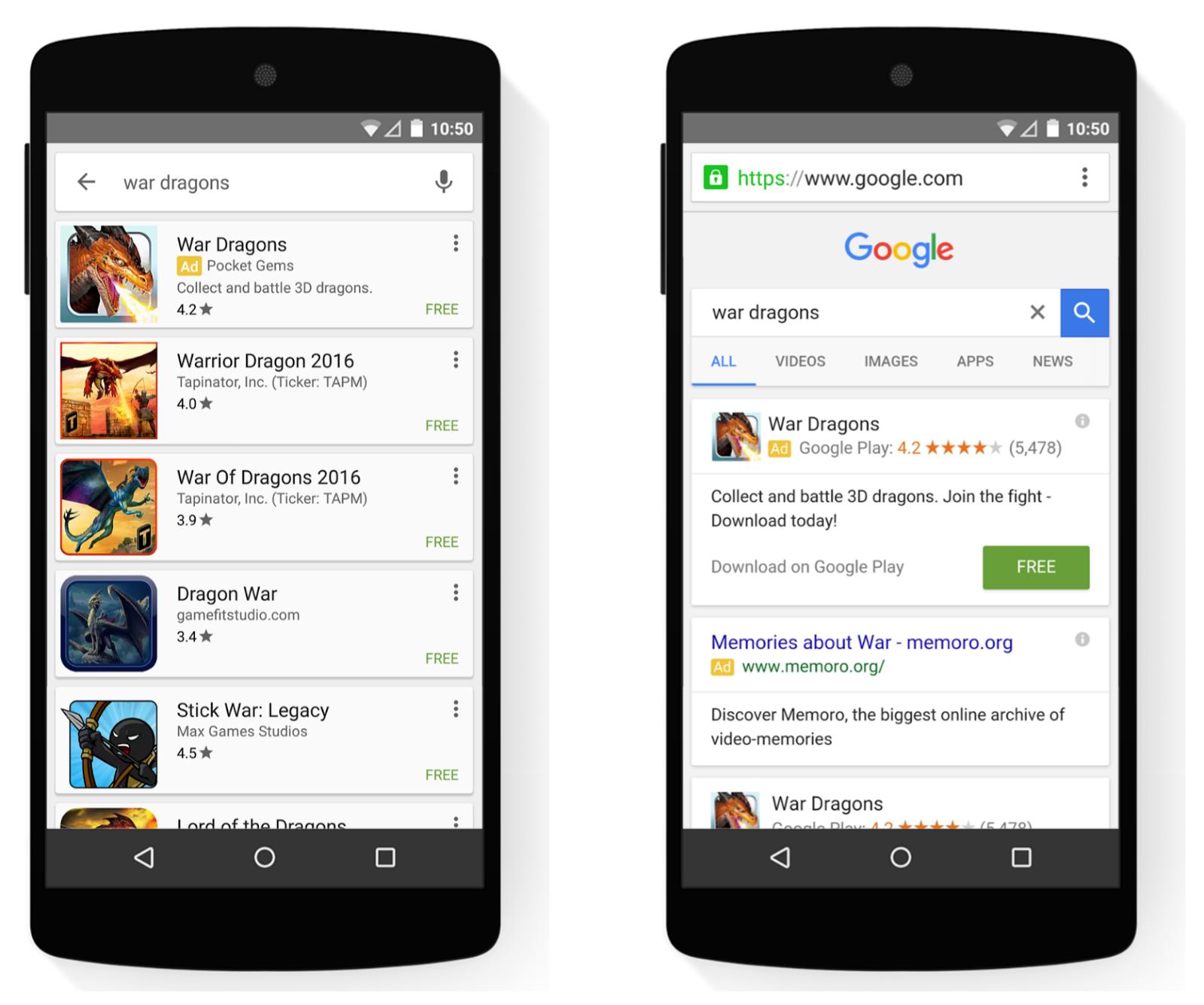 تبلیغات گوگل برای اپلیکیشن
