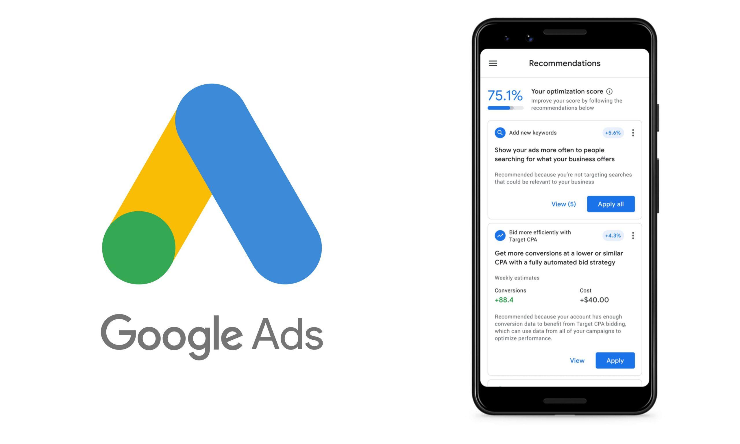 تغییرات گوگل ادز