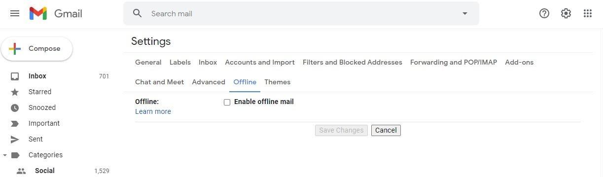 استفاده از جیمیل آفلاین - Gmail Offline