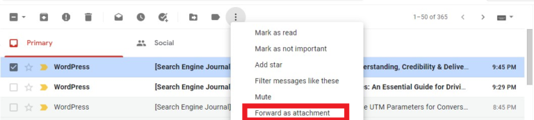 ایجاد ایمیل پیوست