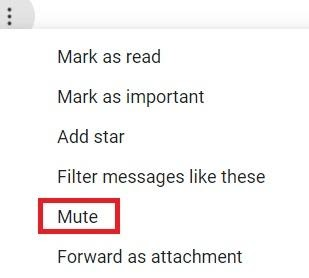 mute کردن در ایمیل